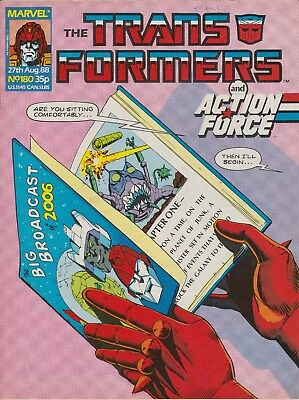 Marvel UK The Transformers #180 (1988) Rare British Weekly Comic