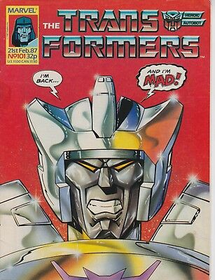 Marvel UK The Transformers #101 (1987) Rare British Weekly Comic