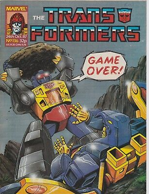 Marvel UK The Transformers #136 (1987) Rare British Weekly Comic