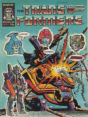The Transformers #87 Marvel UK (1986) Rare British Weekly Comic