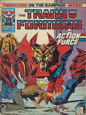The Transformers #155 Marvel UK (1988) Rare British Weekly Comic