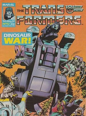 Marvel UK The Transformers #112 (1987) Rare British Weekly Comic