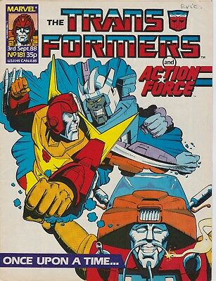 Marvel UK The Transformers #181 (1988) Rare British Weekly Comic