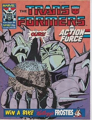 Marvel UK The Transformers #182 (1988) Rare British Weekly Comic