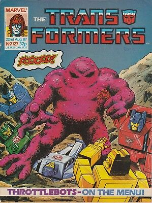 Marvel UK The Transformers #127 (1987) Rare British Weekly Comic