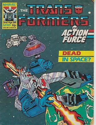 Marvel UK The Transformers #159 (1988) Rare British Weekly Comic