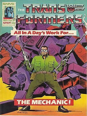 Marvel UK The Transformers #109 British Weekly (1980s) RARE Jumbo Size Comic