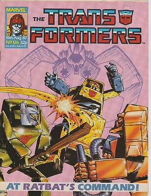 Marvel UK The Transformers #126 (1987) Rare British Weekly Comic