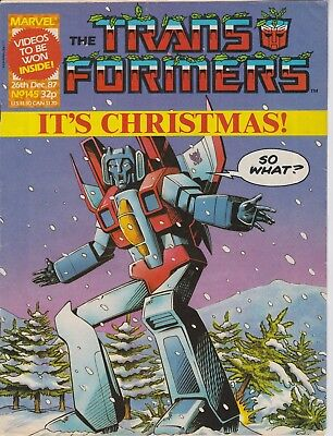 Marvel UK The Transformers #145 (1987) Rare British Weekly Comic