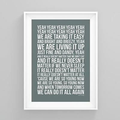 The Corrs So Young Lyrics Poster Print Artwork