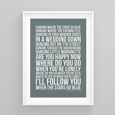 The Corrs When The Stars Go Blue Lyrics Poster Print Artwork