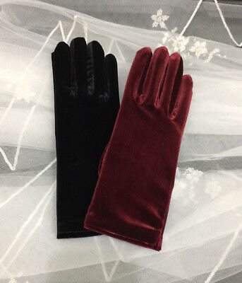 "9.5 "" Velvet Wrist Length Gloves. Pick Your Color !"