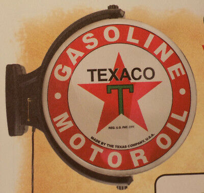 "NEW Texaco 19"" Revolving Lighted Sign Wall Mount - New In the Box."
