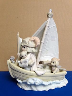 Precious Moments Porcelain Figurine This Land is our Land Valuable Piece