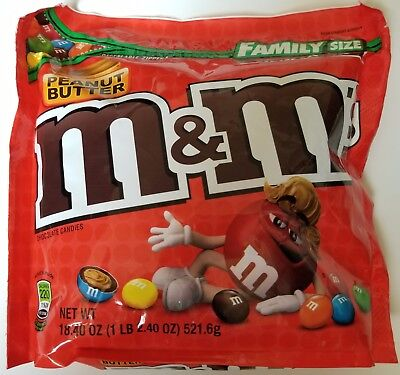 NEW Sealed Peanut Butter M&M's Family Size 18.40 oz Bag FREE WORLDWIDE SHIPPING