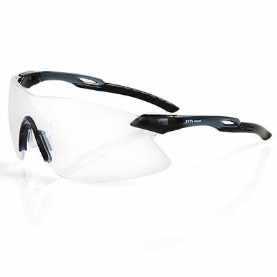 6 Pack Wrap Around Rimless Safety Glasses Specs Clear Aus Safety Standards New!