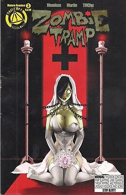 5 Zombie Tramp Comics Sexy! Vg+ Mature Readers Gory Horror !