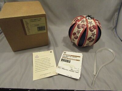 New Longaberger Tree Of Life Ornament 2012 American Stripes        A-1