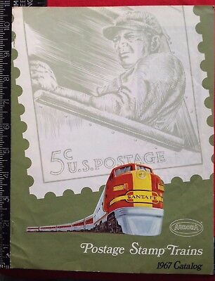 1967 AURORA POSTAGE STAMP TRAINS CATALOG But It Now! West Hempstead NY