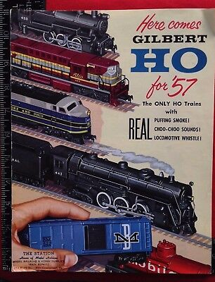 1957 GILBERT HO Train FOR '57 Catalog New Haven CT Conn COLOR Buy It Now!