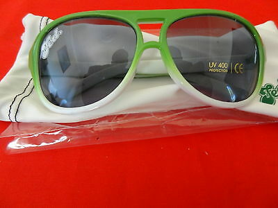Tooheys Extra Dry Sunglasses with Case Promotional TED Green & White NEW RARE