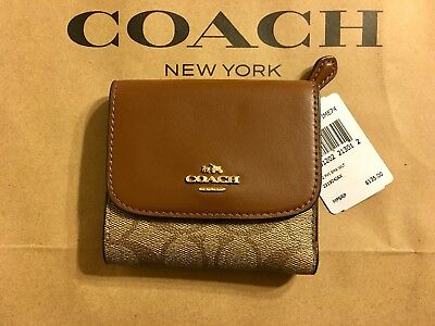 online store 43e75 fd90a NWT COACH SIGNATURE PVC Small Wallet Coated Canvas F87589