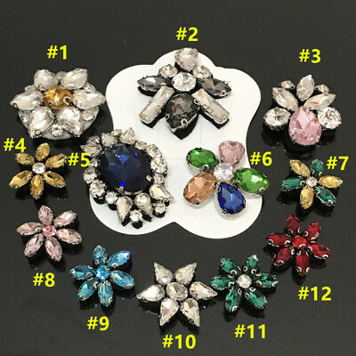 2017 DIY flower Patches Applique Sequins glass rhinestone cloth sock accessory