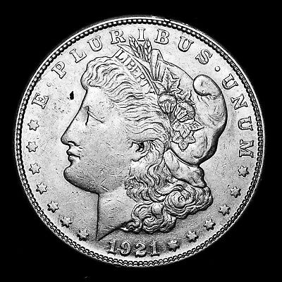 1921 S ~**ABOUT UNCIRCULATED AU**~ Silver Morgan Dollar Rare US Old Coin! #A24