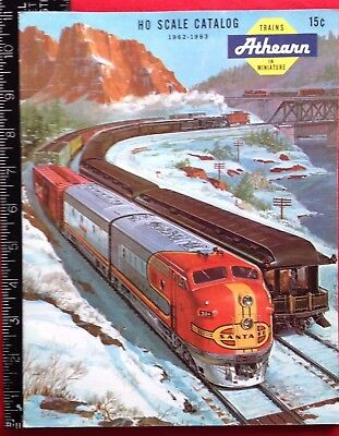 1962-63 ATHEARN HO Scale Catalog Los Angeles Calif COLOR 12 Pages Model Railroad