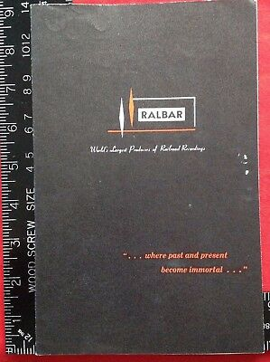 1965 RALBAR Producers of Railroad Recordings FLYER Pottstown Penna