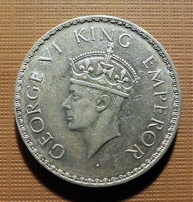 India, British - 1940-B Silver Rupee - King George Vi - Km#556   Esc
