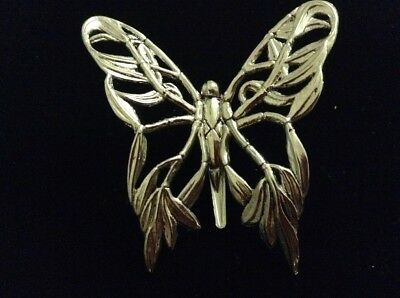 John Hardy Signed Butterfly Scarf Clip On Brooch
