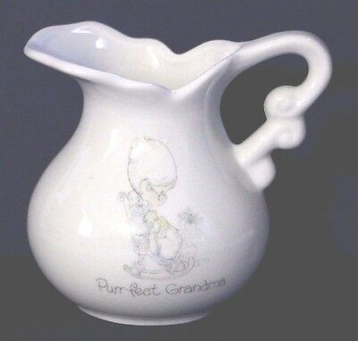 Precious Moments Purr-fect Grandma small creamer pitcher Mother's day gift