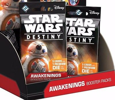Star Wars Destiny Awakenings 3x Booster Packs Factory Sealed FREE SHIPPING
