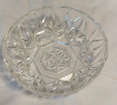 Vintage Clear Glass bowl Beautiful design