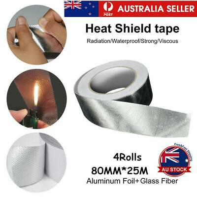 Fiberglass Cloth Reinforced Aluminium Foil Tape Heating Ventilation Sealing 8CM
