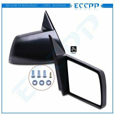 Side View Manual Mirrors w// Metal Bases Pair For 88-98 GMC Chevy Pickup Truck