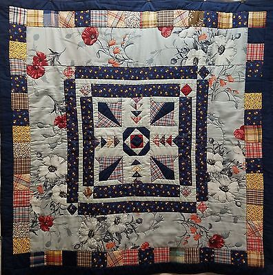 Country Living Hand Made Baby Crib Quilt / Wall Hanging