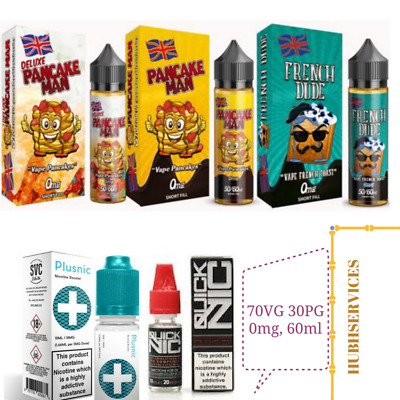 Pancake Man eliquid Juice Vape, French Dude, Granny's Pie, Pancake Man Deluxe