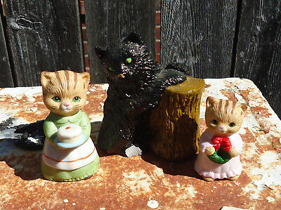 Vintage Lot of 3 Cat Figurines (2 are Homco)