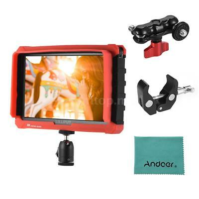 7inch 4096*2160P Monitor Kits & Ballhead Arm+Super Clamp+Cleaning Cloth Hot G8S6