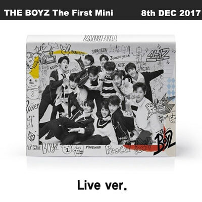 The Boyz The First Mini Album Live Ver CD+Booklet+Cards+Sticker+PreOrder Item