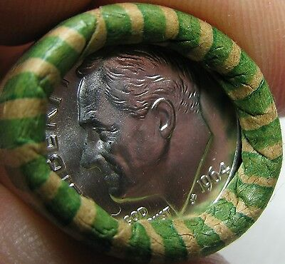 1964 D Obw Original Bank Wrapped Roll Bu Uncirculated Silver Roosevelt Dimes