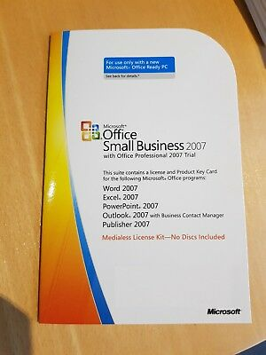 Microsoft Office 2007 Small Business Edition MLK