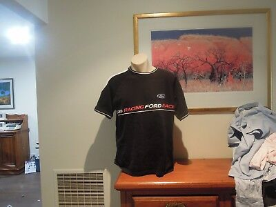 Ford Racing Tshirt Quality Sized Large In Vgc