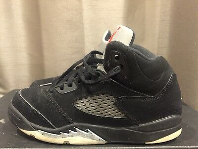 2016 Youth Nike Air Jordan V 5 Black Silver White Red Size 3Y Used NDS Rare