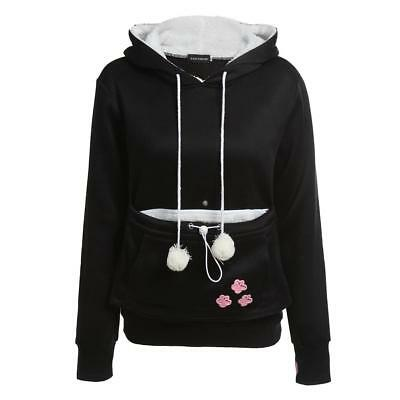 Cat Lovers Hoodies With Cuddle Pouch Dog Pet Hoodies For Casual Kangaroo Pullove
