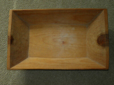 Vintage Antique Large Hand Carved Wood Tray Trough One Solid Piece Medium Color