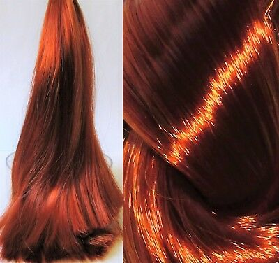 BURNISHED COPPER Nylon Hair for Doll Rerooting/Wigmaking Crissy Barbie OOAK etc