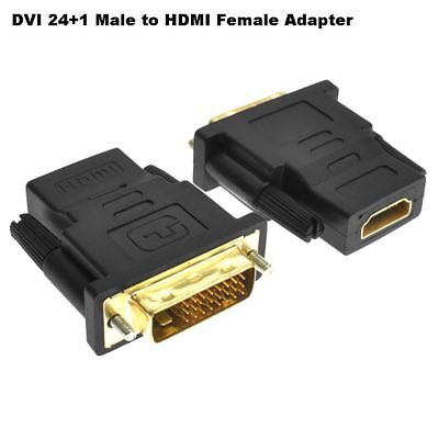 DVI-D 24+1 Dual Link Male to HDMI Female Adapter Converter Gold Plated Useful